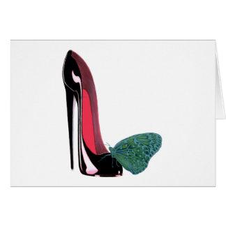 黒い小剣の靴および蝶 カード