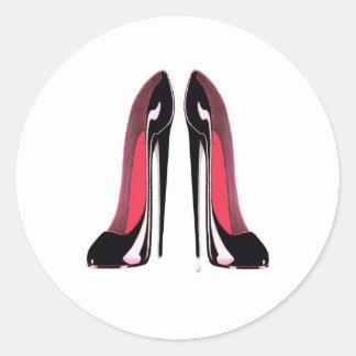 黒い小剣の靴 ラウンドシール