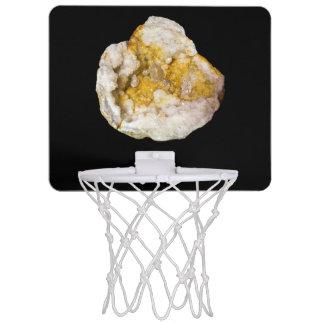 黒い小型バスケットボールBackboard4で半分Geode ミニバスケットボールネット