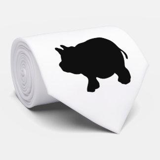 黒い小型ブタのタイを選抜して下さい カスタムタイ