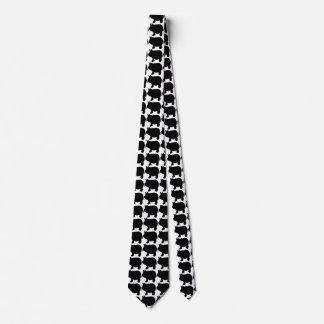 黒い小型ブタ オリジナルネクタイ