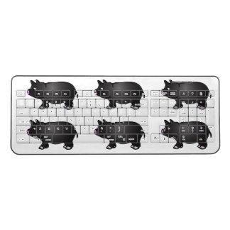 黒い小型ブタ ワイヤレスキーボード