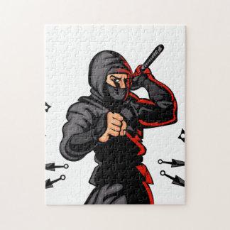 黒い忍者の漫画 ジグソーパズル