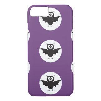黒い悪魔は紫色の背部地上のハロウィンで打ちます iPhone 8/7ケース