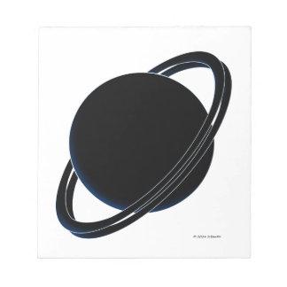 黒い惑星 ノートパッド