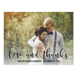 黒い愛および感謝の原稿|の名前入りな写真 ポストカード