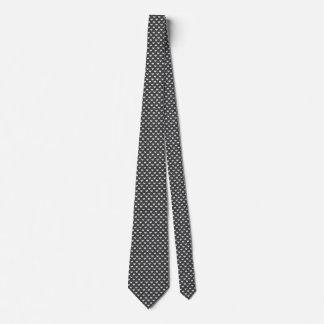 黒い愛の小さい編まれたハートパターン オリジナルネクタイ