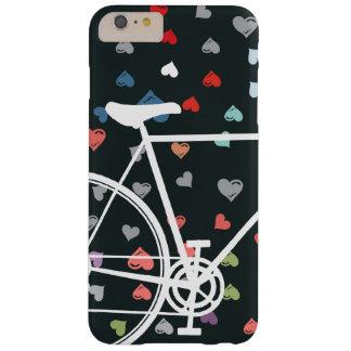 黒い愛ハートの抽象的な自転車 スキニー iPhone 6 PLUS ケース