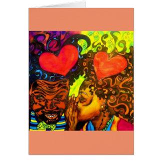 黒い愛ポスターNotecard カード