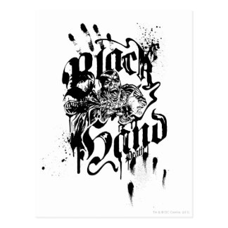 黒い手のコラージュ ポストカード