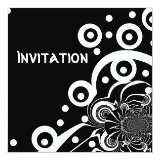 黒い招待状及び白いスタイルの澄んな宇宙(3) カード
