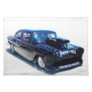 黒い捕虜クラシックな車のアメリカ人Mojo ランチョンマット