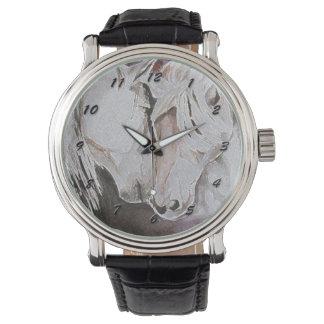 黒い数を用いる馬の腕時計、モモまたはピンク 腕時計