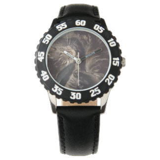 黒い数腕時計が付いているデーブのよくはしゃぐな斜面 腕時計