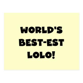 黒い文字ベスト米国東部標準時刻LoloのTシャツおよびギフト ポストカード