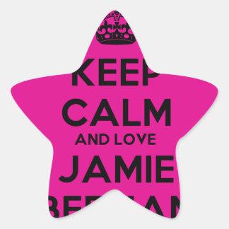 黒い文字Jamie Beeman 星シール