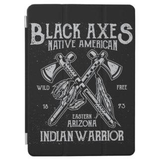 黒い斧原産アメリカのインドの戦士アリゾナ iPad AIR カバー