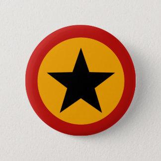 黒い星ボタン 5.7CM 丸型バッジ