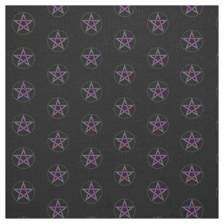 黒い星形五角形の祭壇の布材料 ファブリック