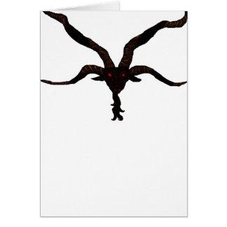 黒い星火山挨拶状 カード