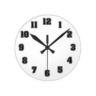 黒い時計のテンプレート ラウンド壁時計
