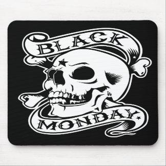 黒い月曜日はスカルのマウスパッドを戻します マウスパッド