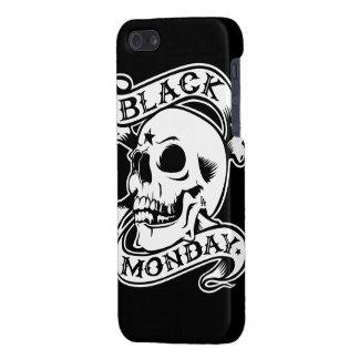黒い月曜日はスカルのiPhone 5の場合を戻します iPhone SE/5/5sケース