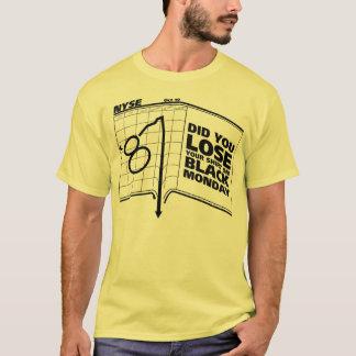 黒い月曜日1987の株式市場 Tシャツ