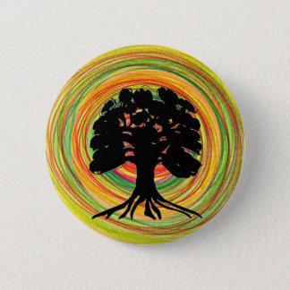 黒い木の日曜日のデザインのブローチ 缶バッジ