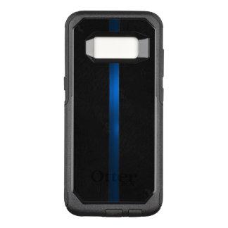 黒い木製の出現の薄いブルーライン オッターボックスコミューターSamsung GALAXY S8 ケース