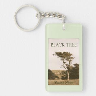 黒い木Keychain 長方形(両面)アクリル製キーホルダー