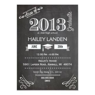 黒い板卒業の発表 の3写真 カード