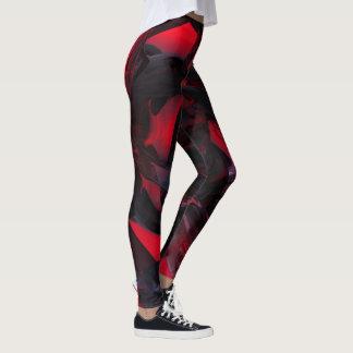 黒い楽天的なばら色のレギング赤 レギンス