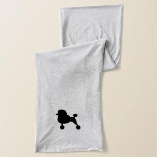 黒い標準プードルのシルエット スカーフ