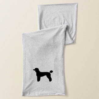 黒い標準プードルのシルエット(切られる子ヒツジ) スカーフ