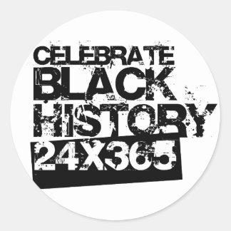 黒い歴史24x365を祝って下さい ラウンドシール
