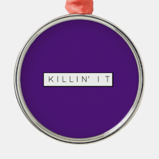 黒い殺害それはプリントKillinにそれ文字を入れます メタルオーナメント