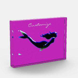 黒い水中人魚によってカスタマイズThunder_Cove 表彰盾