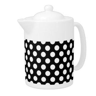 黒い水玉模様パターンの白