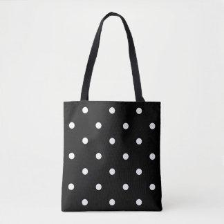 黒い水玉模様 トートバッグ
