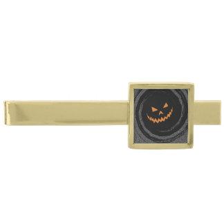 黒い渦巻のハロウィン白熱ジャックO'Lantern ゴールド タイバー