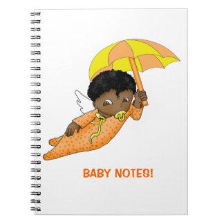 黒い漫画のベビーの天使のノート ノートブック