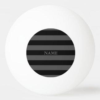黒い灰色のストライプパターン名前のピンポン球 卓球ボール