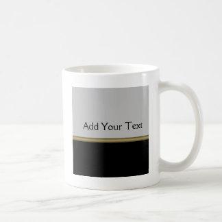 黒い灰色の金ゴールドのモノグラムの優雅 コーヒーマグカップ