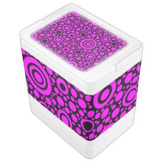 黒い点及び円の格子 + あなたの背景色 IGLOOクーラーボックス