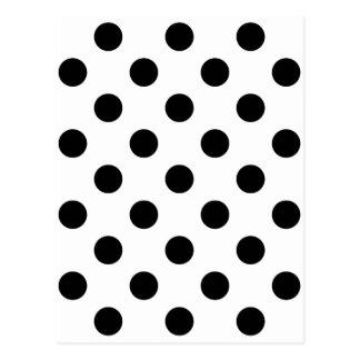黒い点! (水玉模様のデザインの) ~ ポストカード