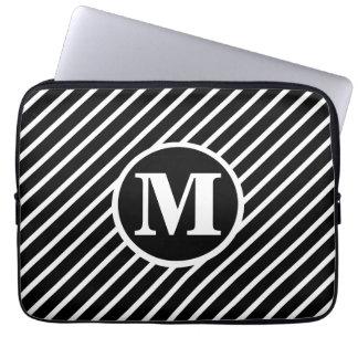 黒い点DSのモノグラム ラップトップスリーブ