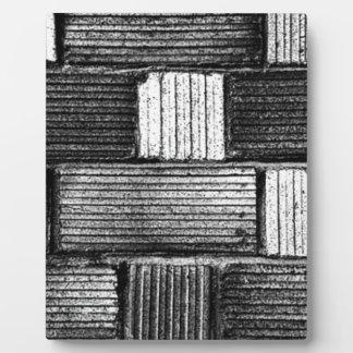 黒い煉瓦 フォトプラーク