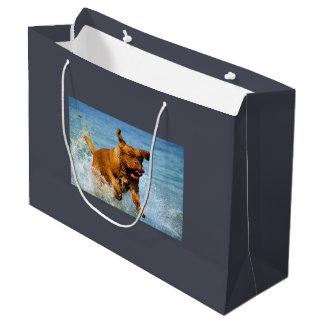 黒い煙家族の特別な予算の写真テンプレート ラージペーパーバッグ