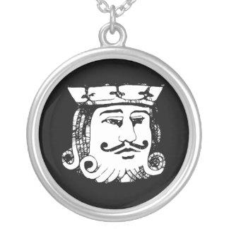 黒い王 シルバープレートネックレス